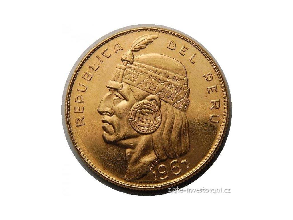 4034 zlata mince inka manco capac peru 1967 1 oz