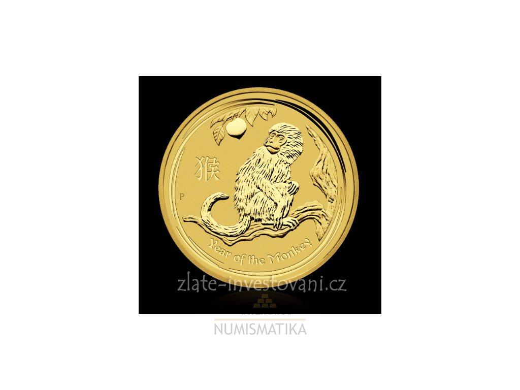 Investiční zlatá mince rok Opice 2016 1 Oz