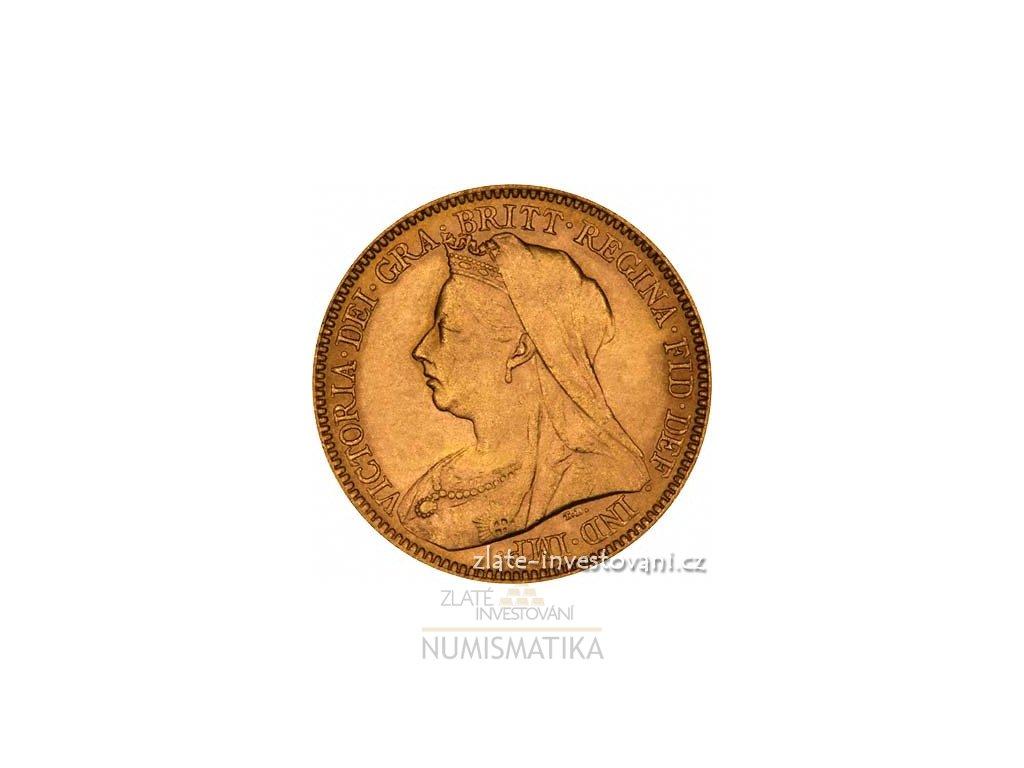 4115 investicni zlata mince britsky pul sovereign victoria 1893 1901