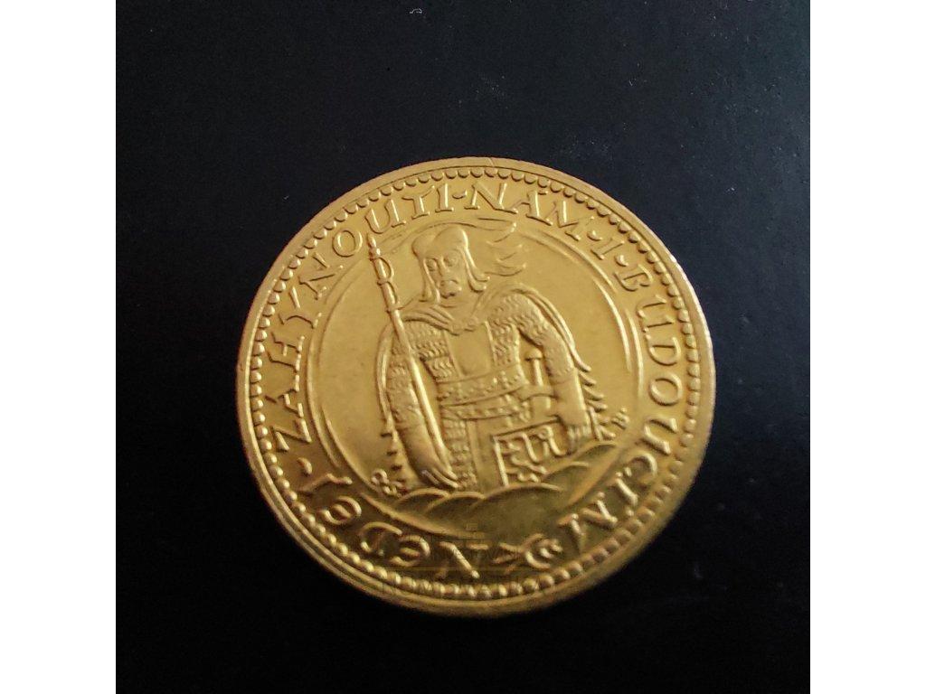 Svatováclavský dukát ročník 1923