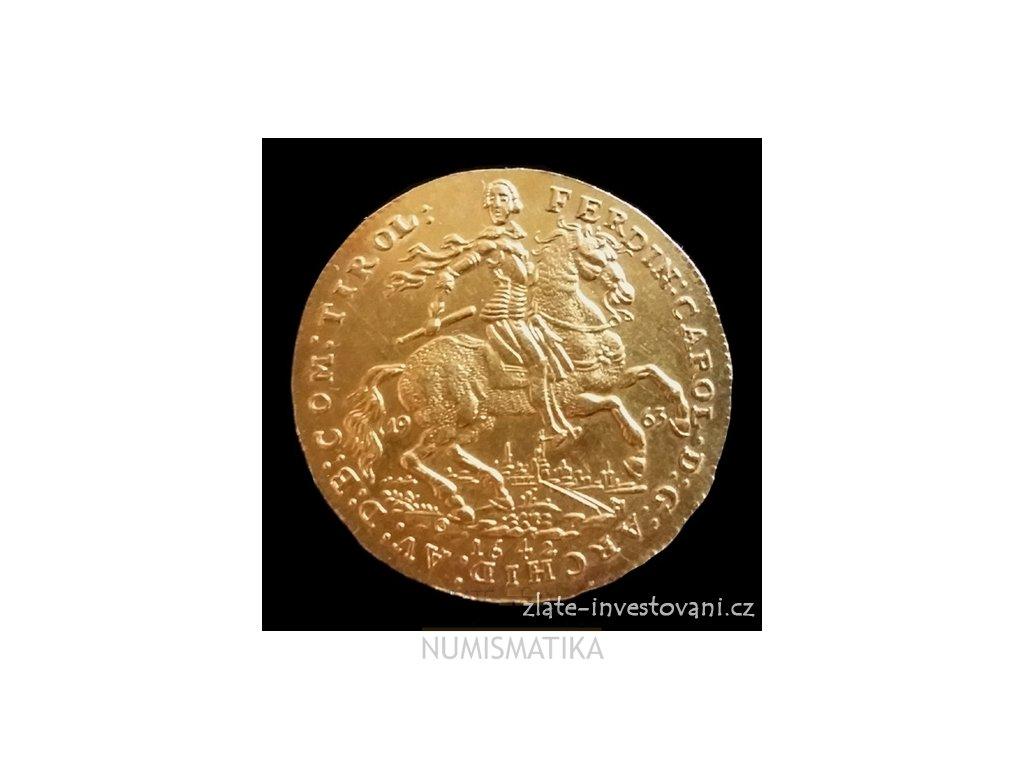 4415 investicni zlaty dvou dukat 1642 ferdinand carl novorazba