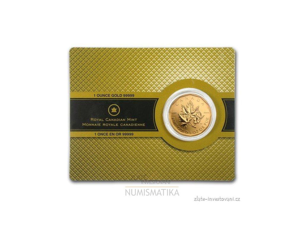 Investiční zlatá mince kanadský Maple leaf- 2007 1 Oz