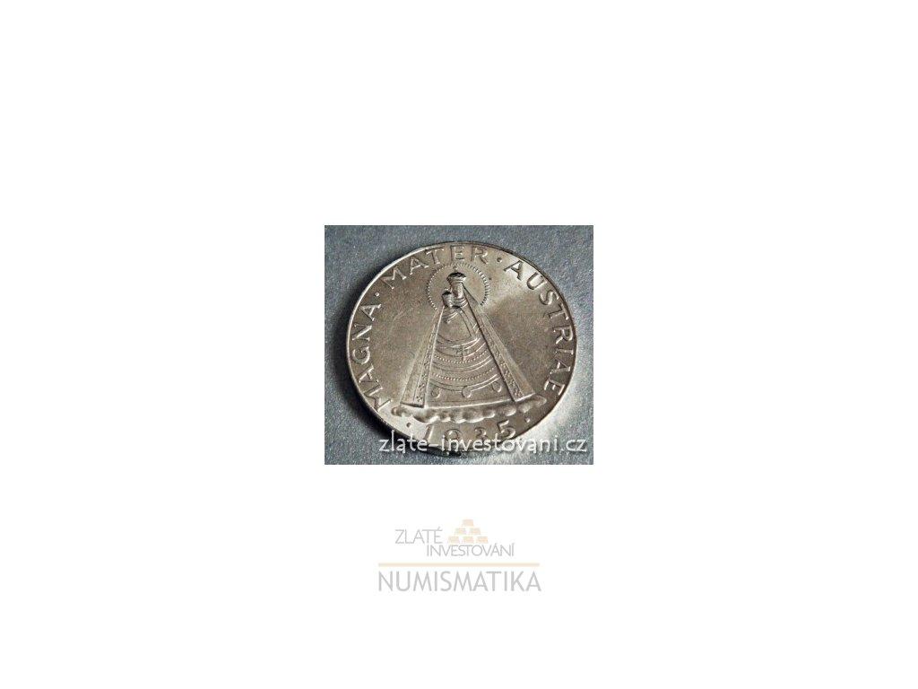5ebf12cef Stříbrná mince rakouský 5 šilink-Madona Magna Mater - ZI-NUMISMATIKA