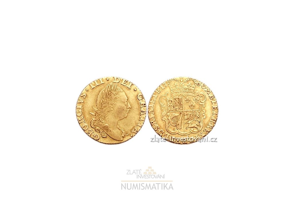 4691 zlata mince britska half guinea george iii