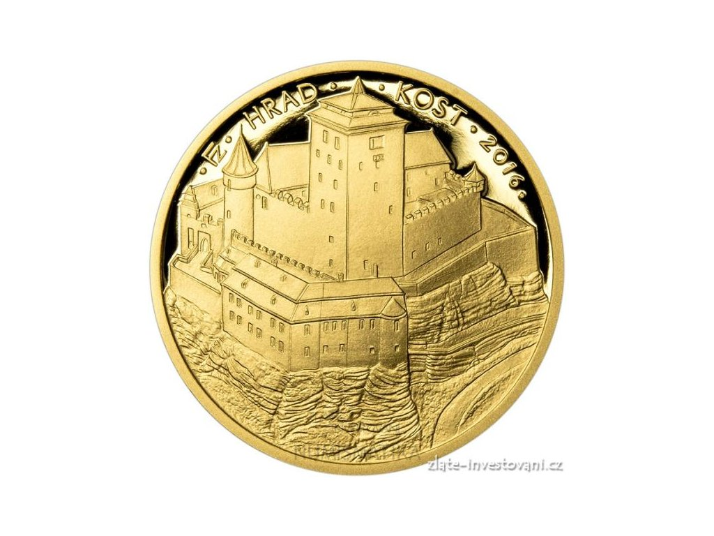 4754 zlata mince hrad kost 2016 proof 1 2 oz
