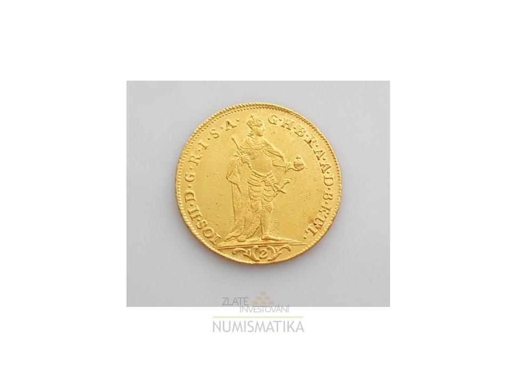 Zlatý 2 dukát Josef II.-1784