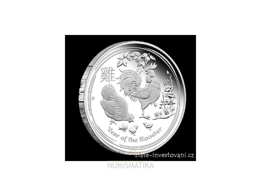 4892 investicni stribrna mince rok kohouta 2017 1 2 oz