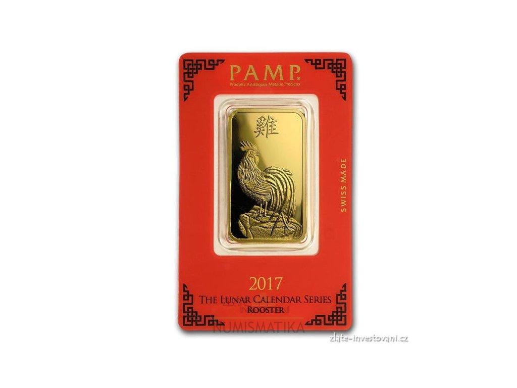 Investiční zlatý slitek PAMP Rok kohouta 2017 1 Oz