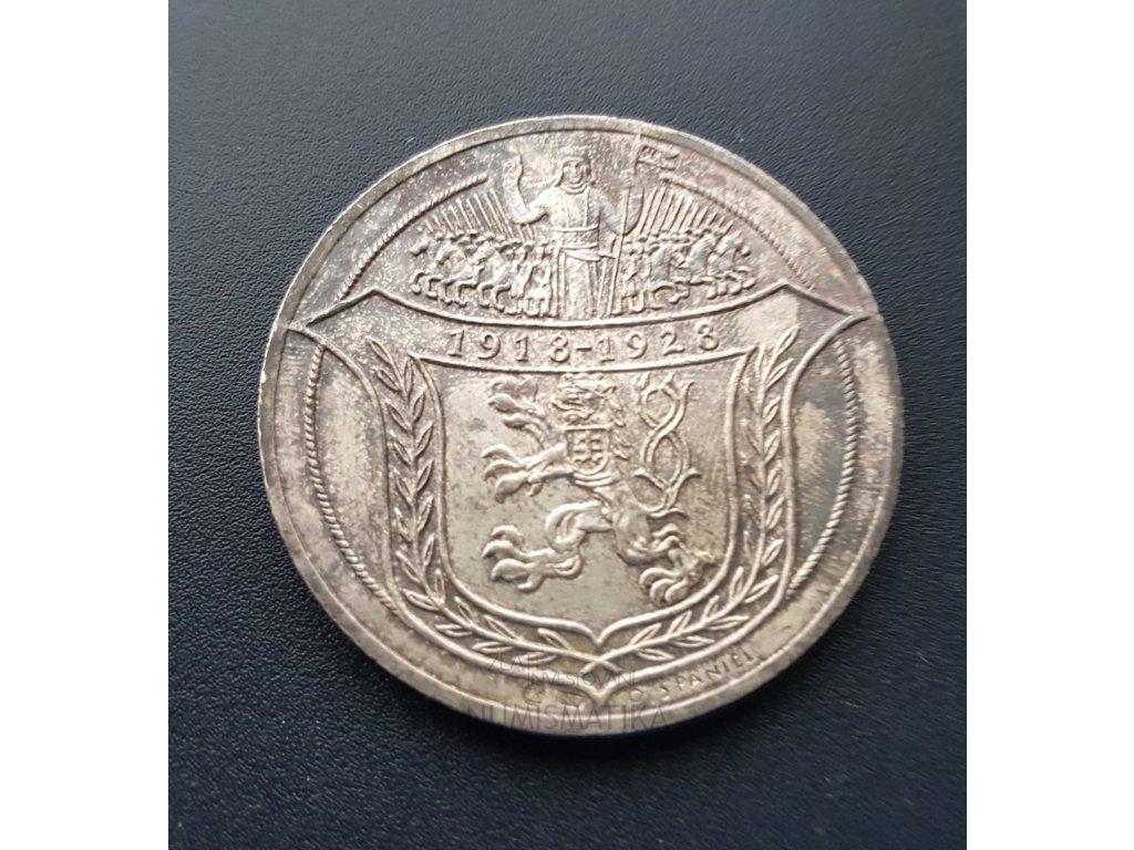 5042 stribrna dukatova medaile jsem razen z ceskeho kovu 1918 1928