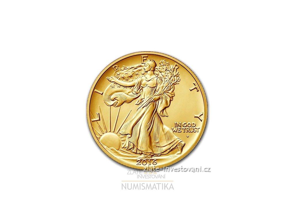 5108 zlata vyrocni mince pul dollar 100 vyroci walking liberty 2016 1 2 oz
