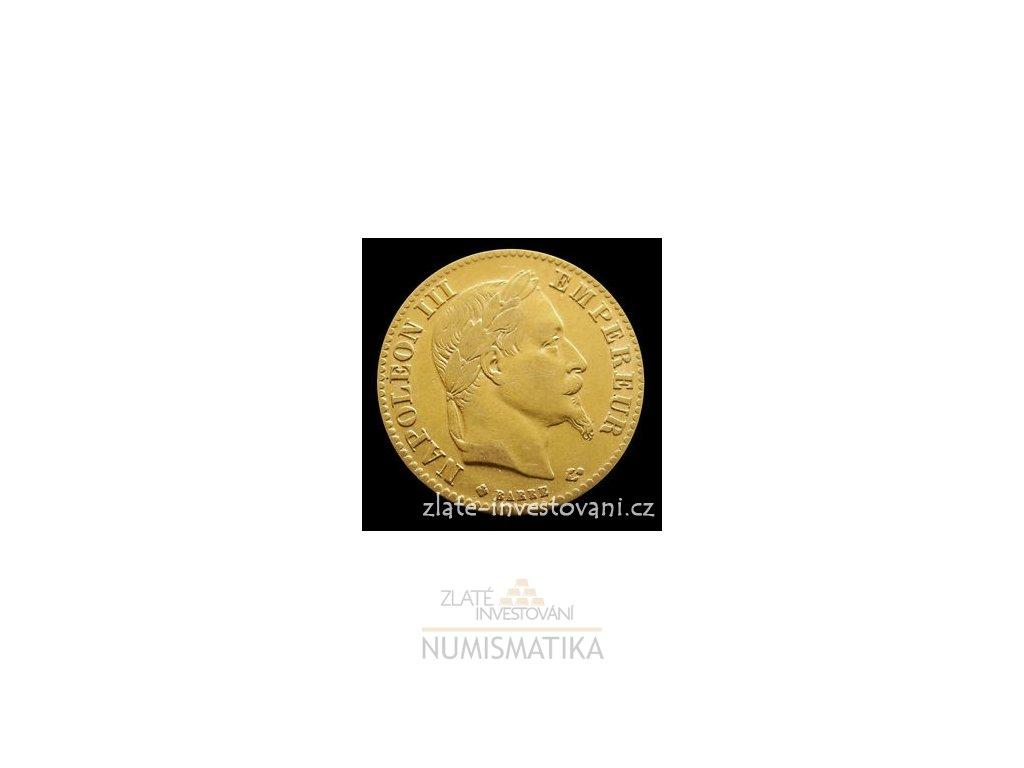 5117 zlaty francouzsky 10 frank napoleon iii 1861 1868
