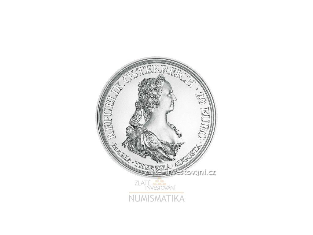 5249 stribrna mince marie terezie za odvahu a odhodlanost proof