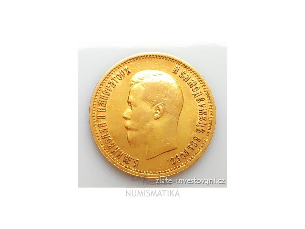 Zlatá mince ruský 10 rubl-Mikuláš II. -1899 AG