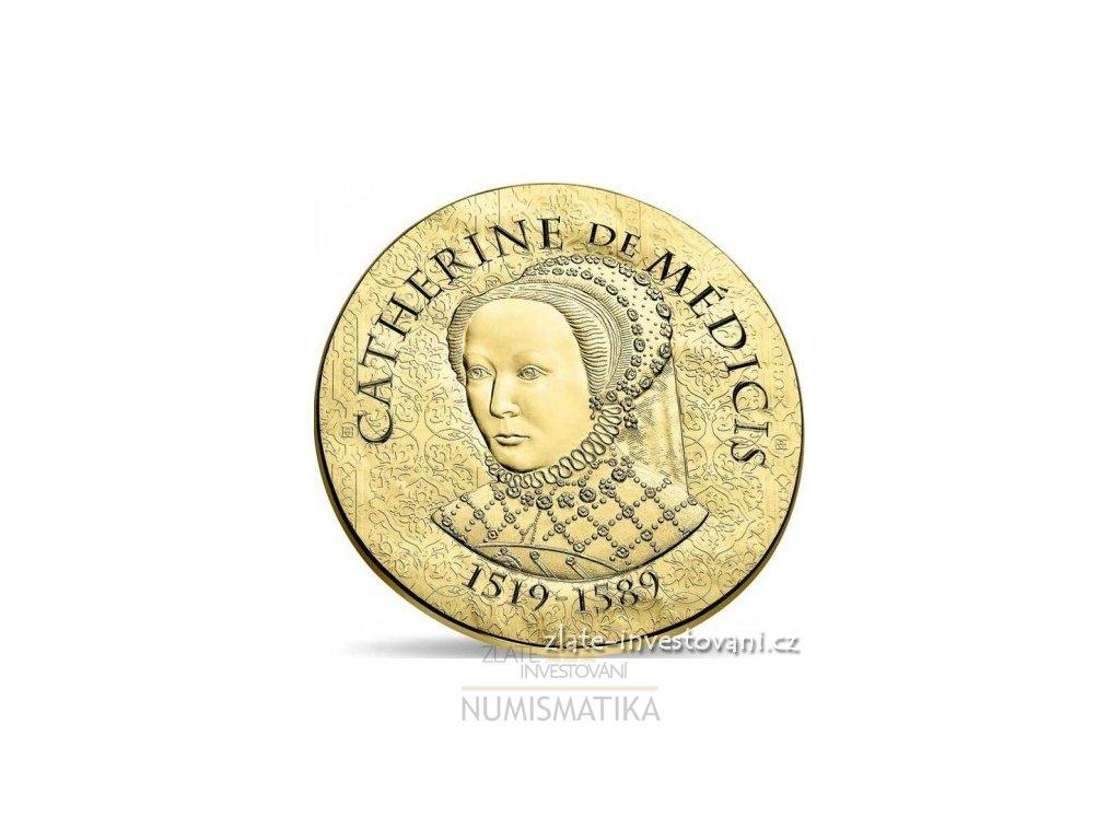 5366 zlata mince katerina medicejska 2017 proof