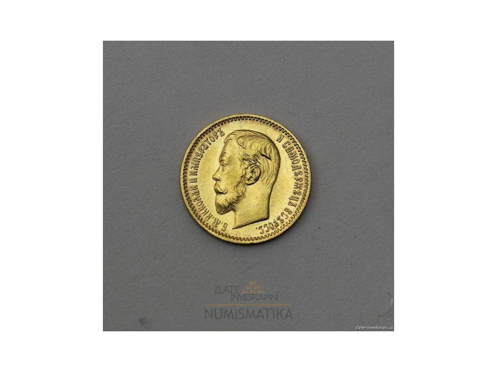 5504 zlata mince rusky petirubl car mikulas ii 1904 ap