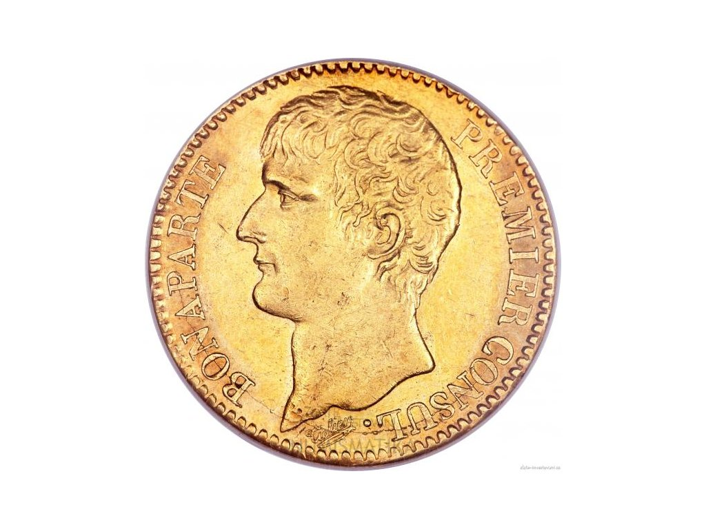 5588 zlata mince francouzsky ctyricetifrank napoleon konsul 1802 1803