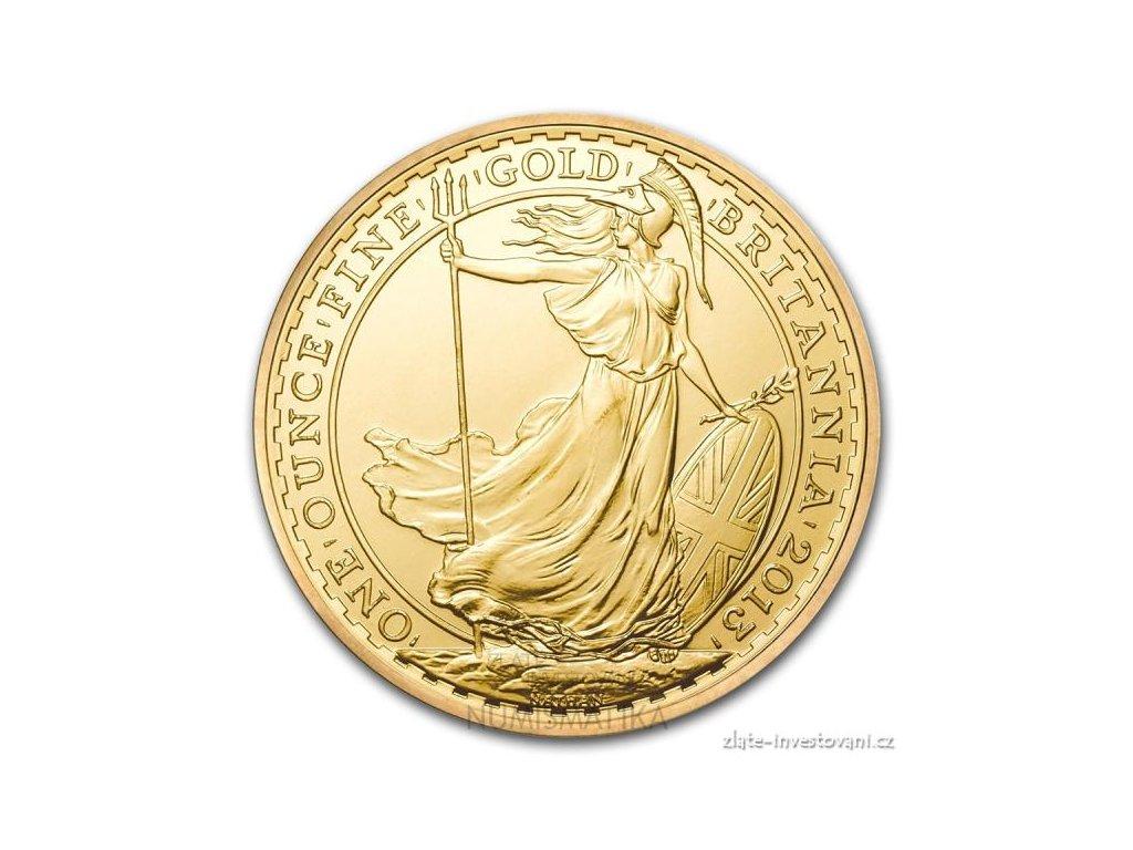 Investiční zlatá mince Britannia -2013 1 Oz