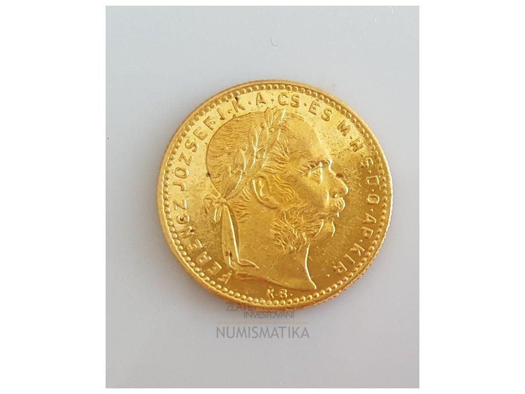 Zlatá mince Osmizlatník Františka Josefa I.-uherská ražba 1887
