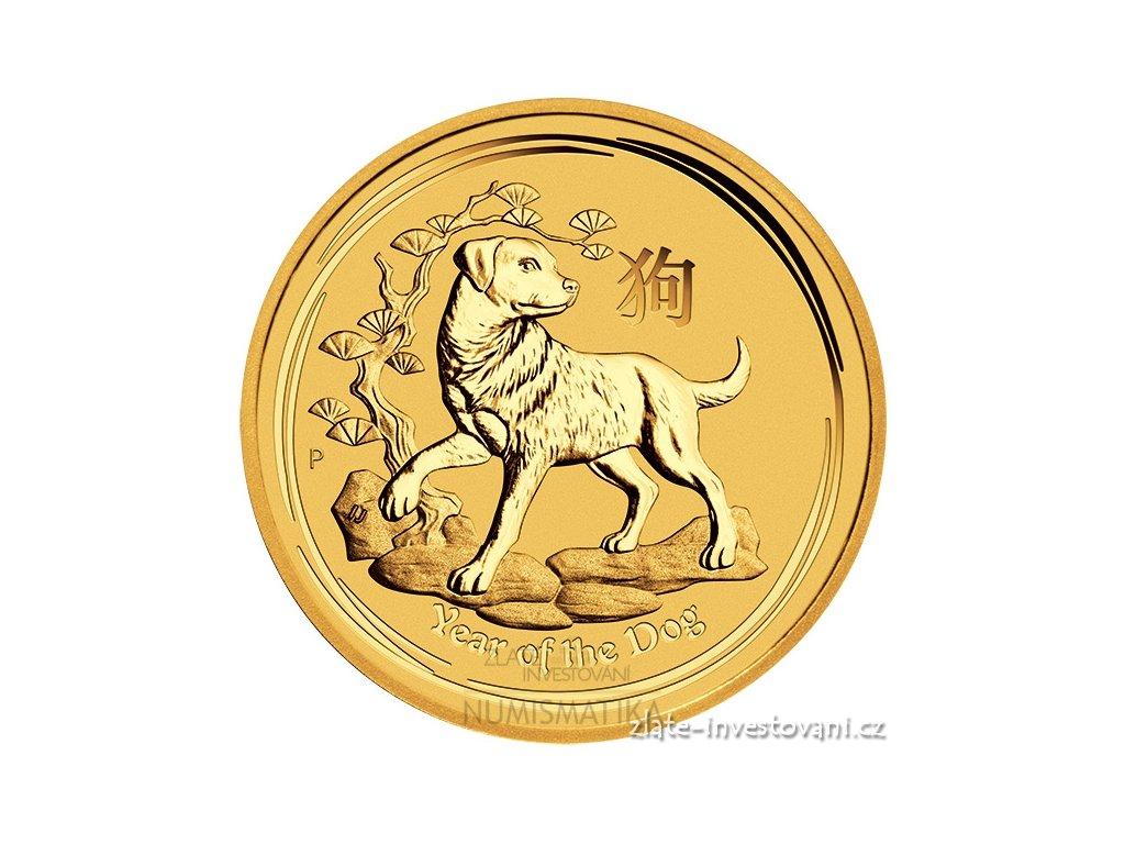 5735 investicni zlata mince rok psa 2018 1 oz