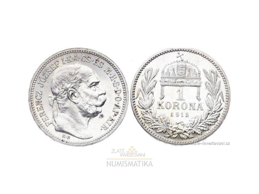5810 stribrna koruna frantiska josefa i 1915