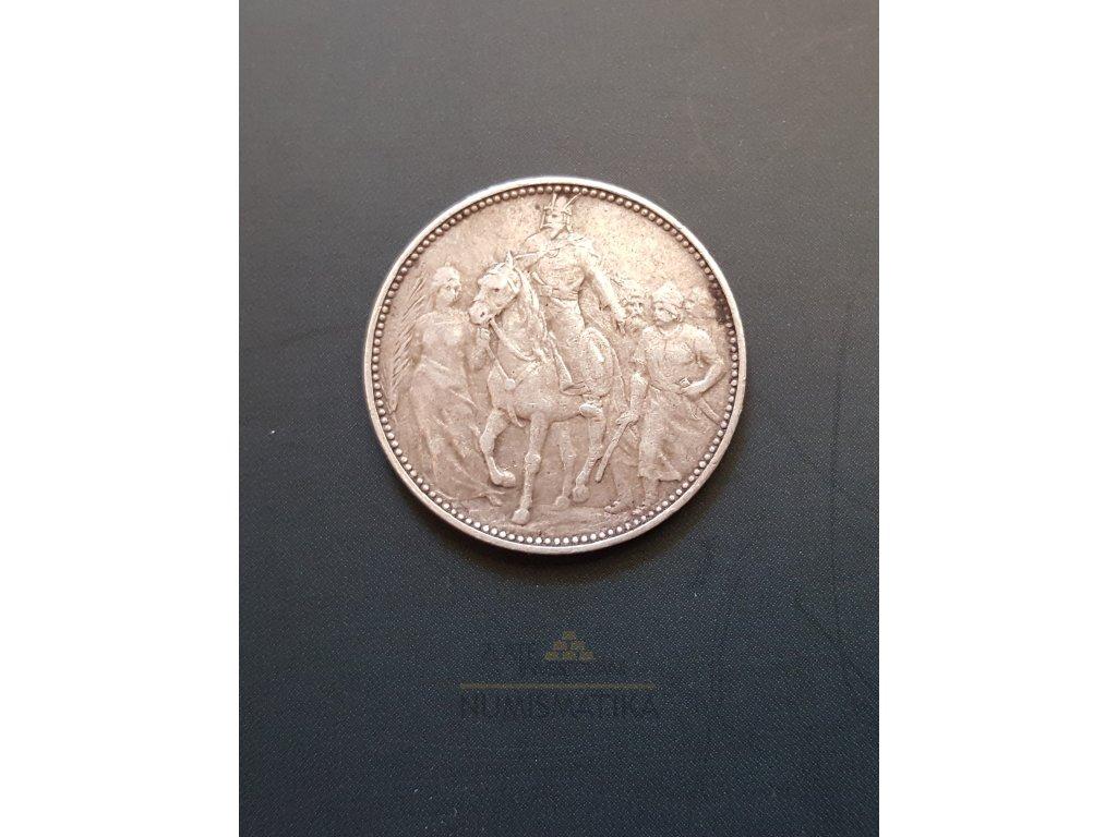 Stříbrná pamětní koruna na příchod Maďarů 1896