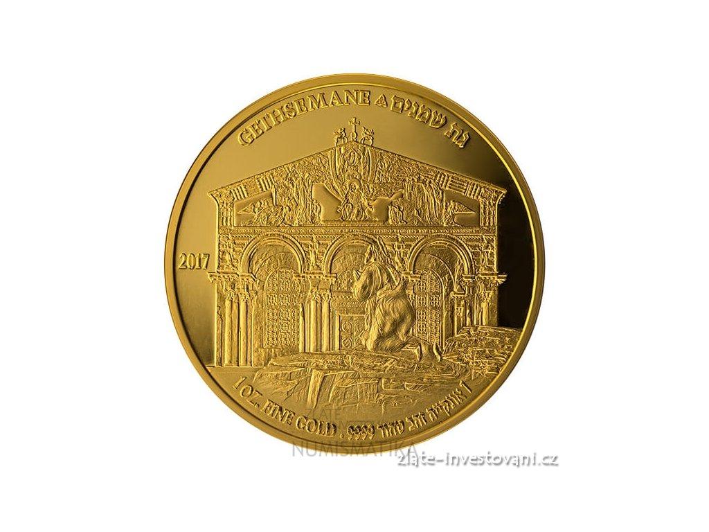 Zlatá mince Gethsemane-série Holy Land sites 2017 -Izrael 1 Oz