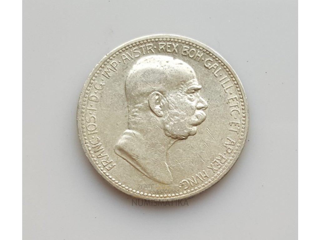 6044 stribrna pametni koruna 60 let panovani frantiska josefa i 1908