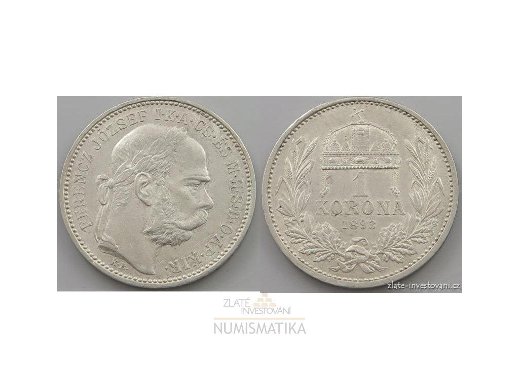 6116 stribrna koruna frantiska josefa i 1893 kb