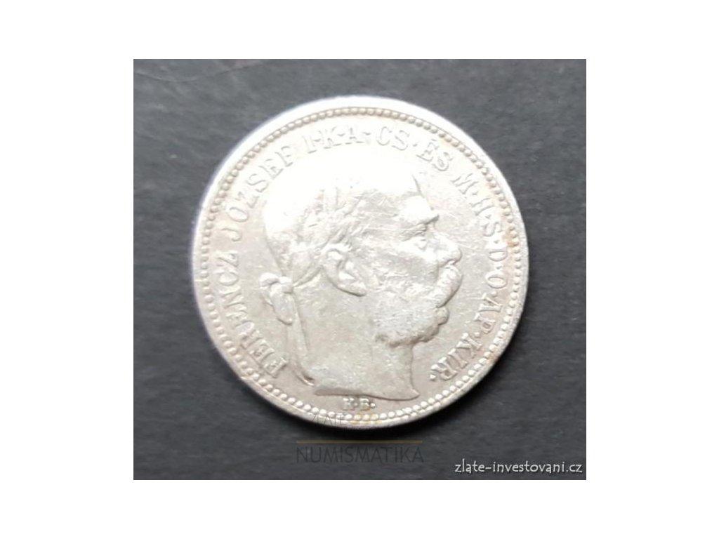 6122 stribrna koruna frantiska josefa i 1895 kb