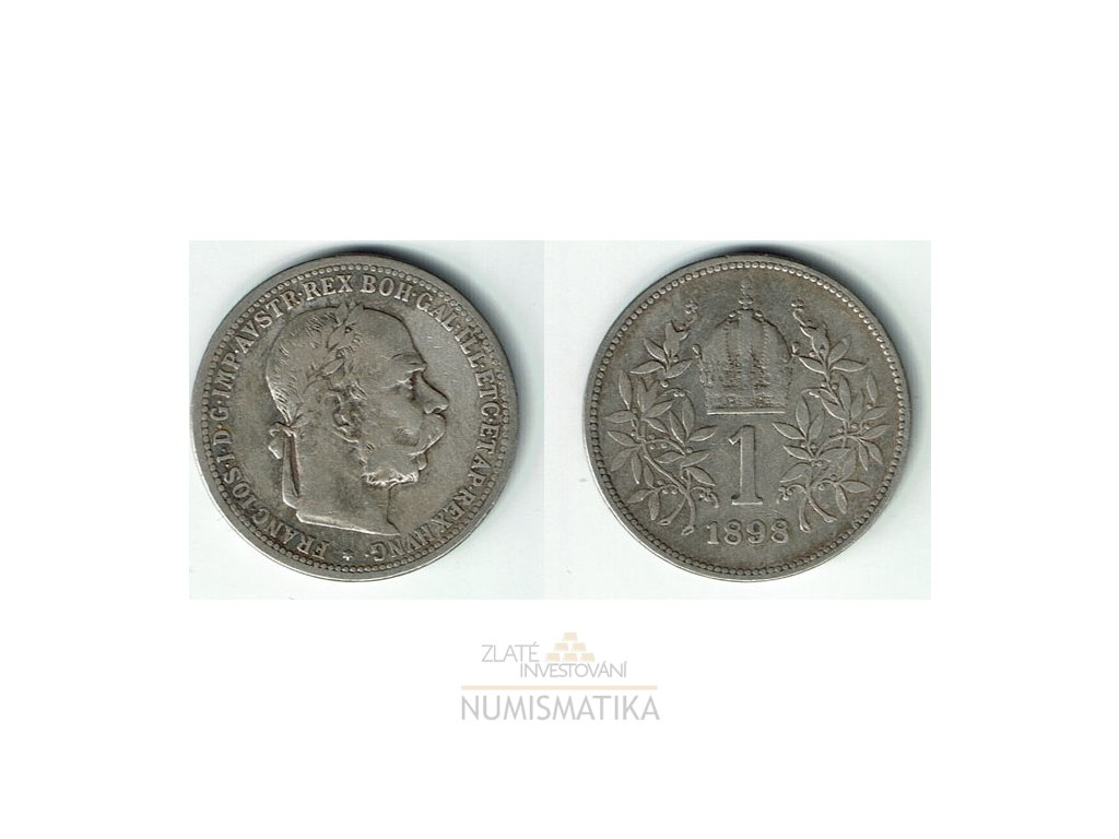 Stříbrná korona1898 František Josef I.