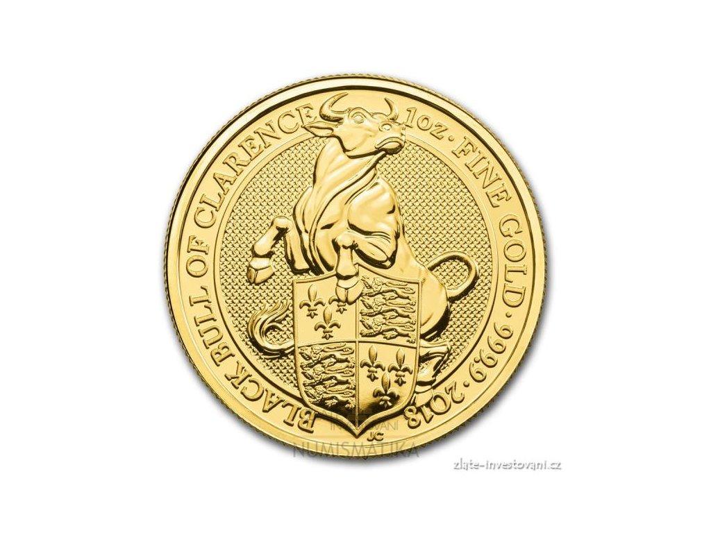 6335 investicni zlata mince byk kralovny anglie 2018 heraldicka serie 1 oz
