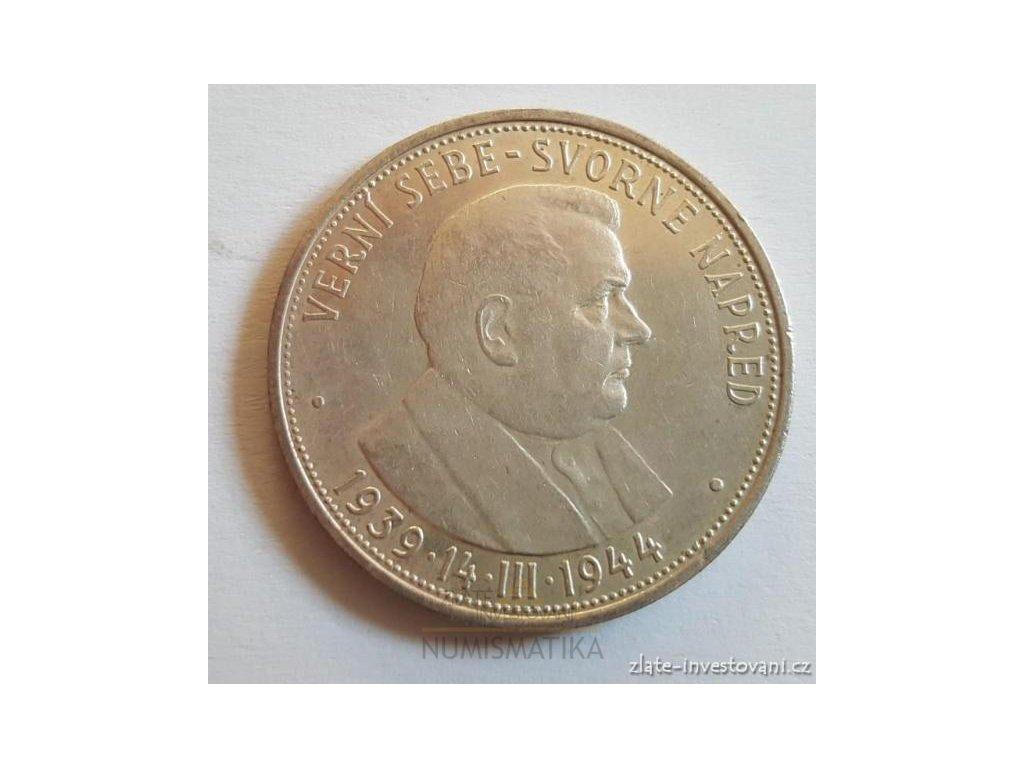6350 stribrna 50 koruna josef tiso 1944