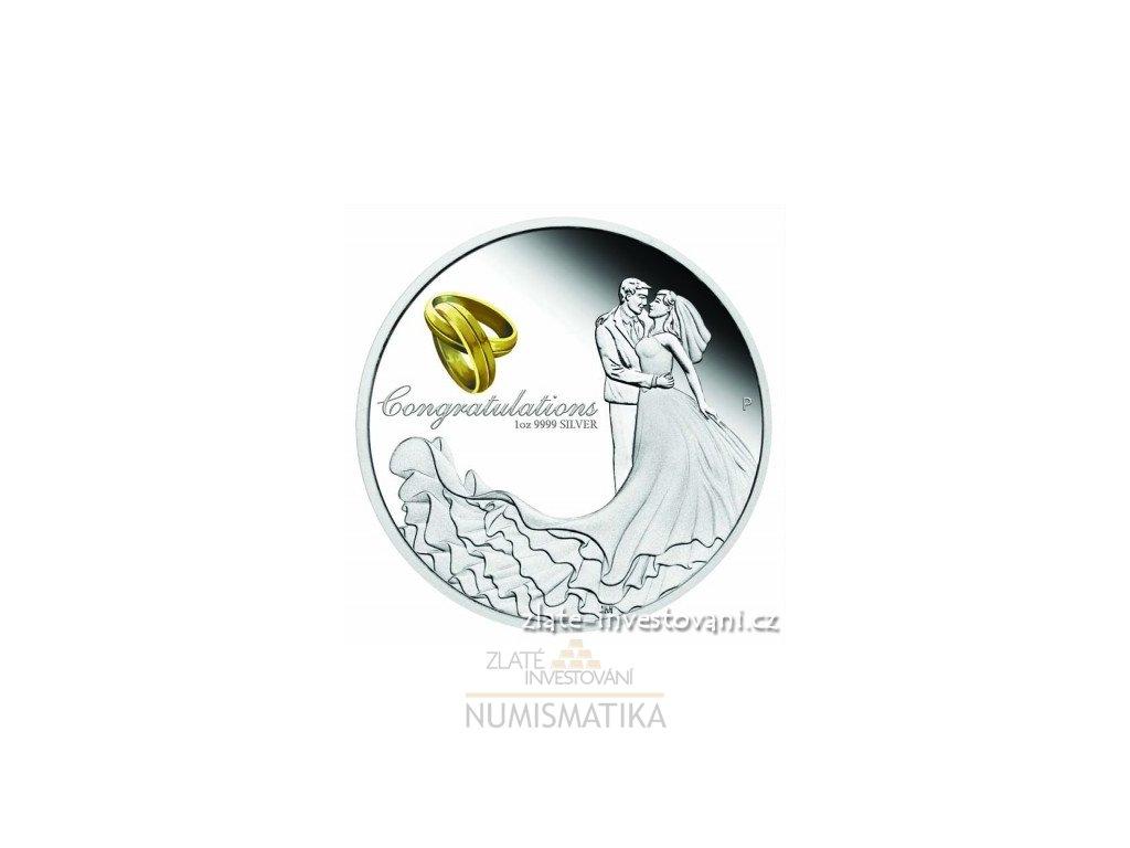 Stříbrná svatební mince 2018-Austrálie 1 Oz