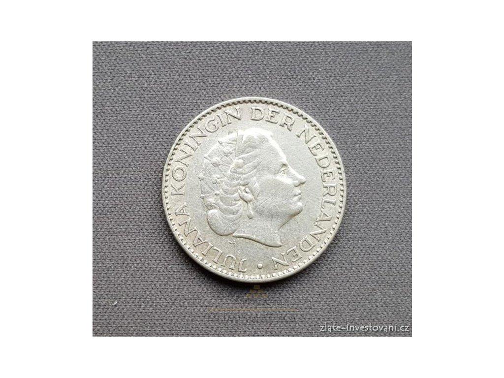 6599 stribrny 1 gulden kralovna juliana