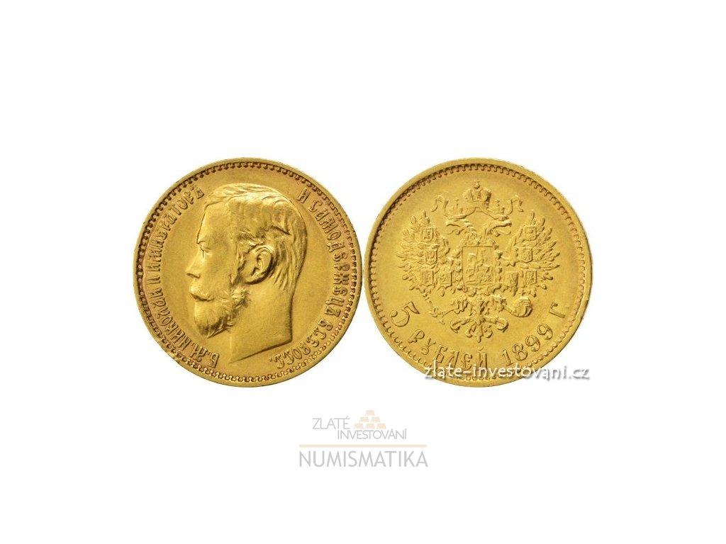 6737 zlata mince rusky petirubl car nikolaj ii 1899