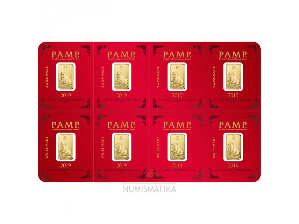Investiční zlatá cihla PAMP Rok vepře 2019 - multigram 8g