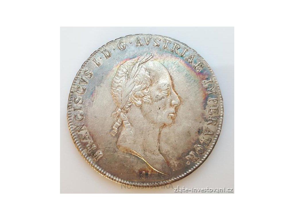 Stříbrný tolar František I. 1825 A tolar1