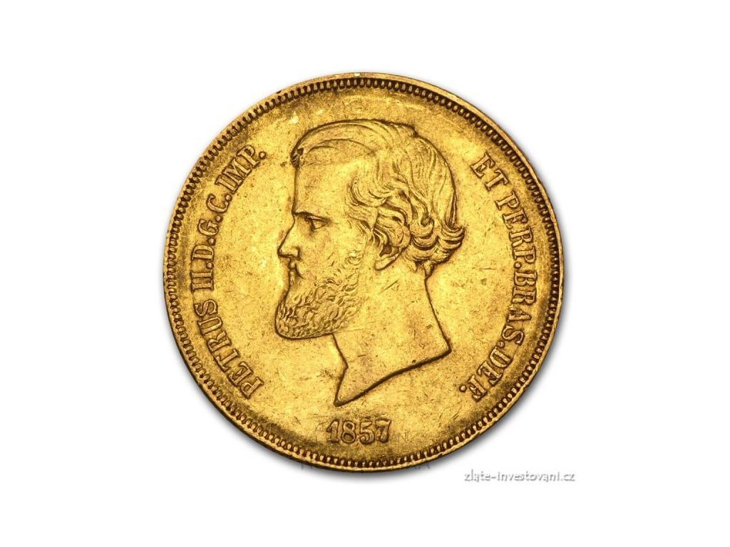 Zlatá mince král Pedro II. -20 000 reálů Brazílie