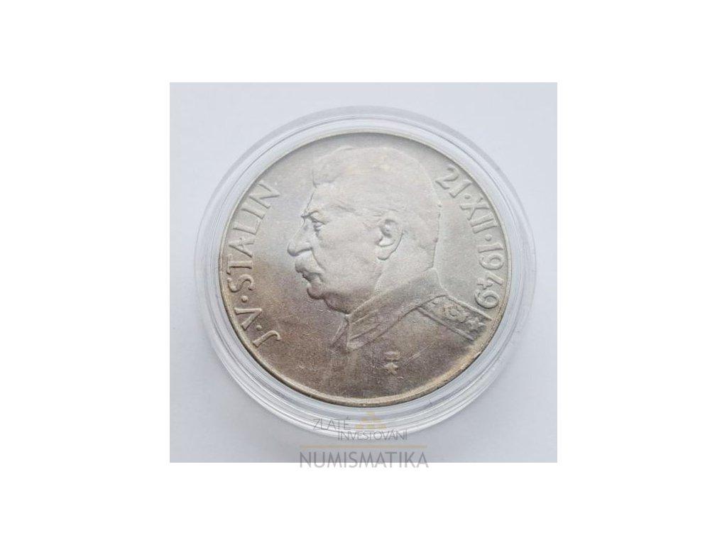 Stříbrná 50 koruna Stalin 1949-70. výročí