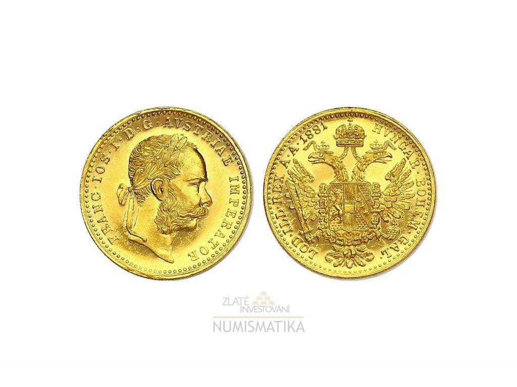 Zlatý dukát František Josef I. 1881