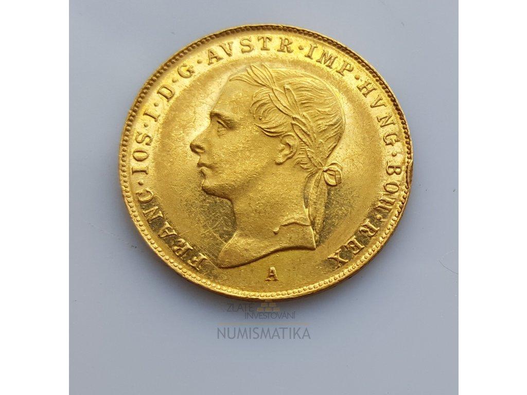 Zlatý pamětní  dukát Františka Josefa I.-1848A/1898