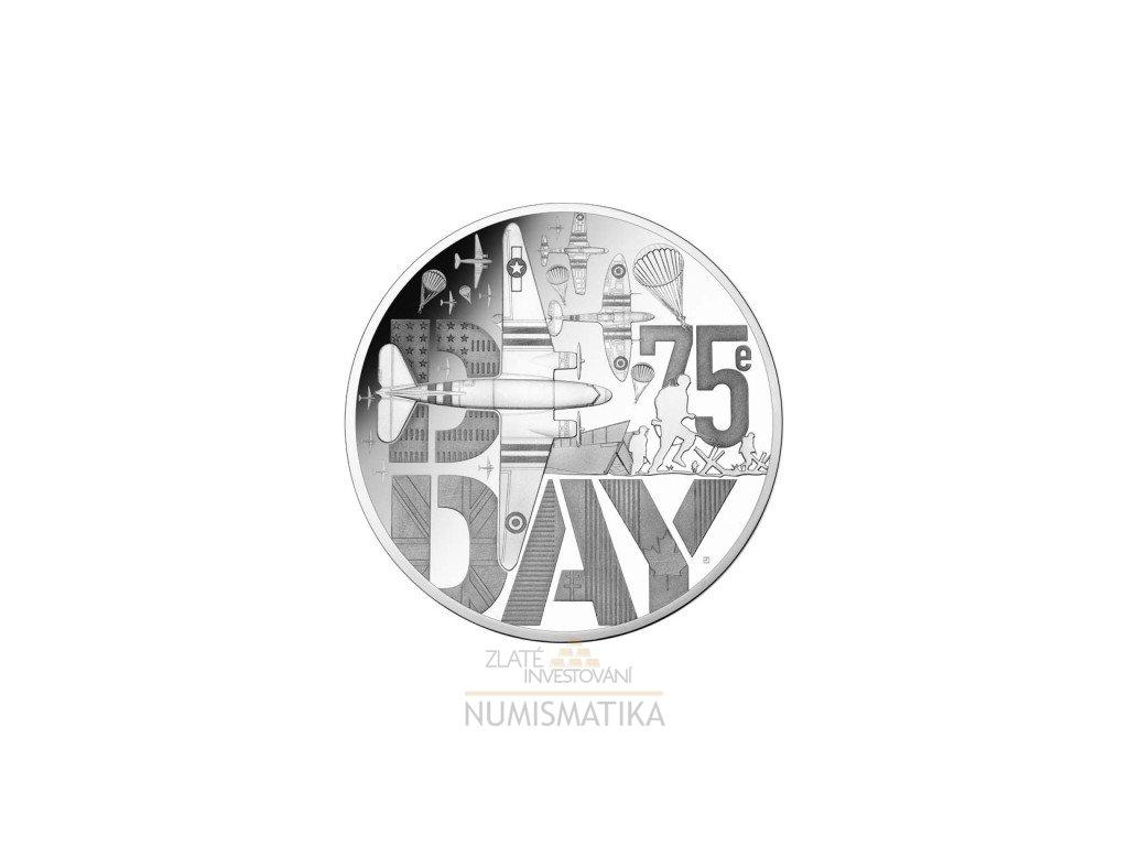 stříbrná mince D-Day 75. výročí vylodění v Normandii-2019