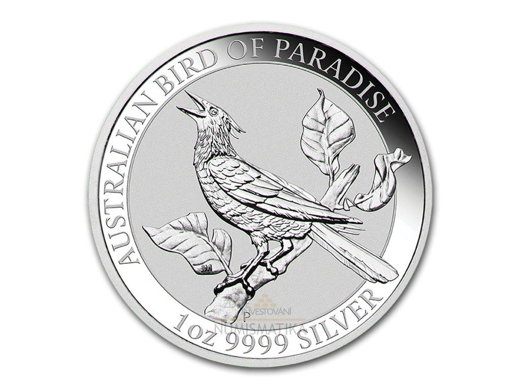Stříbrná investiční mince Bird od Paradise 2019- 1 Oz