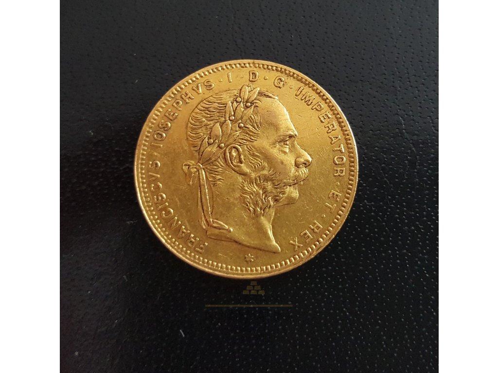 zlatý Osmizlatník-dvaceti frank rakouská ražba 1880