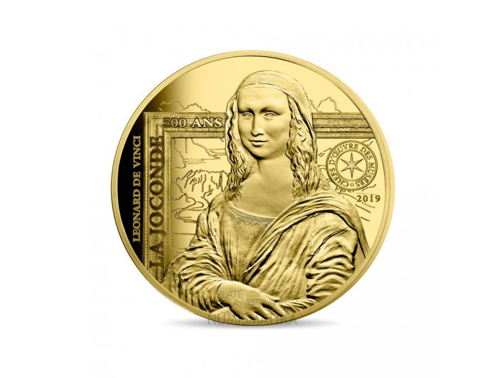Zlatá mince Mona Lisa 2019-proof 1 Oz