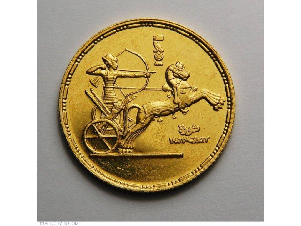 Zlatá egyptská libra -Faraon- 1955