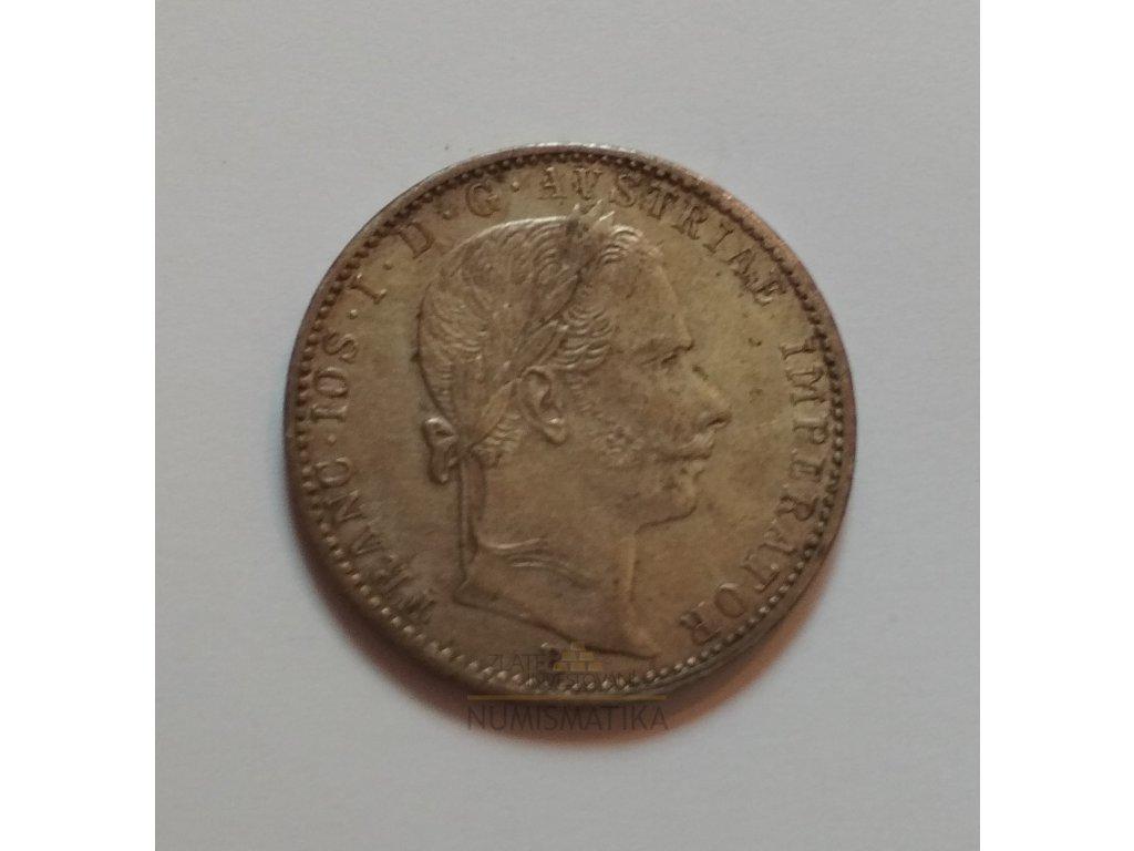 Stříbrný 1/4 zlatník Františka Josefa I. 1859 B