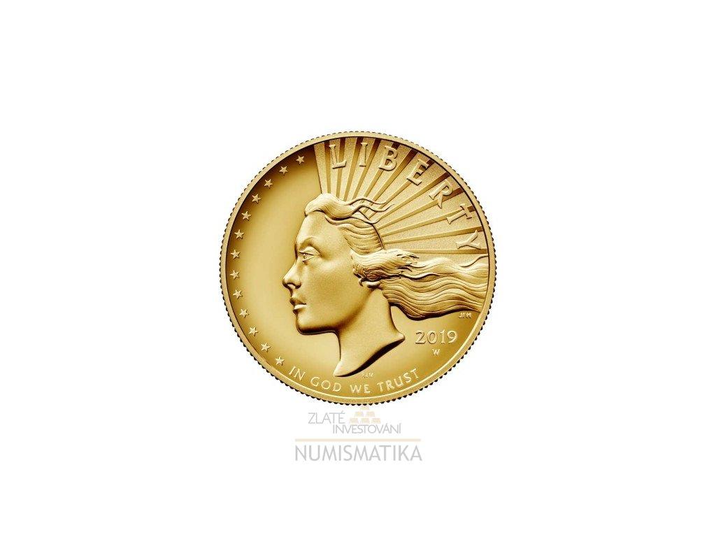 Zlatá mince Liberty Lady 2019-proof