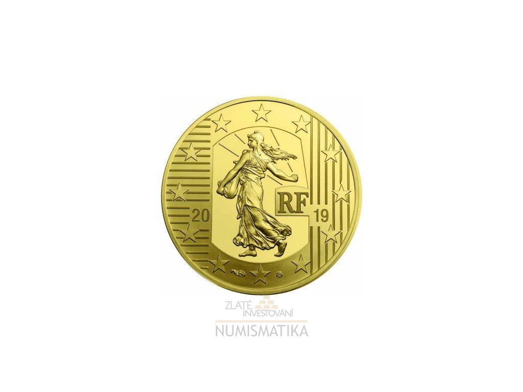 Zlatá mince Rozsévačka 2019 proof-Francie