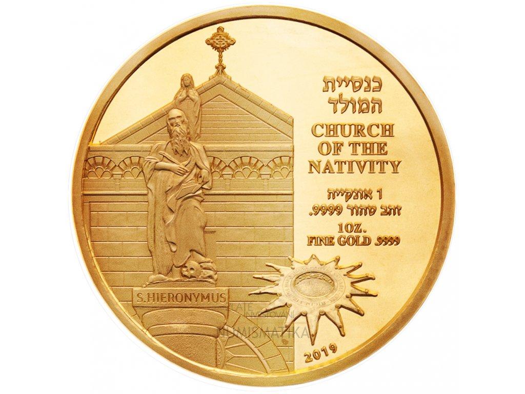 Zlatá mince Church of the Nativity 2019 1 Oz